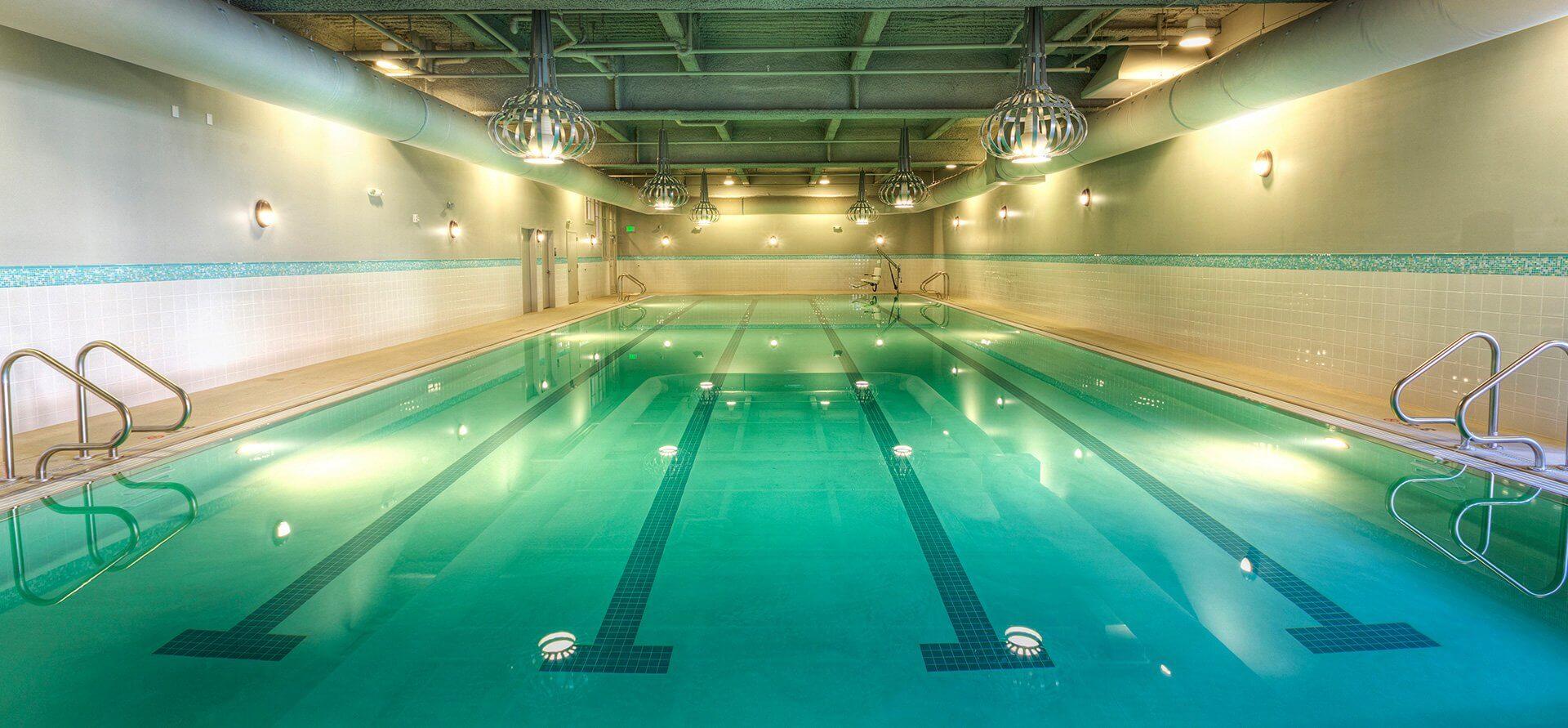 Athletics centre sauna